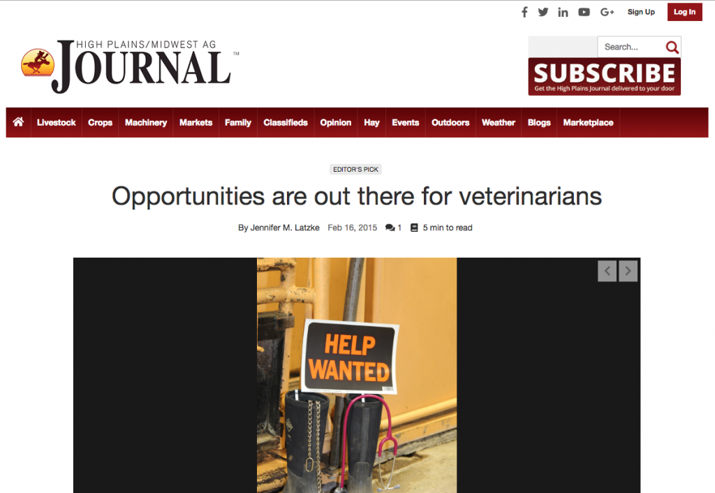High Plains:Midwest Ag Journal Opportunities For Veterinarians
