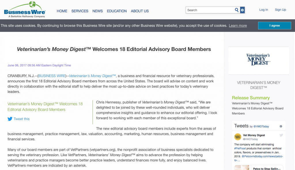 Veterinarians Money Digest Business Wire