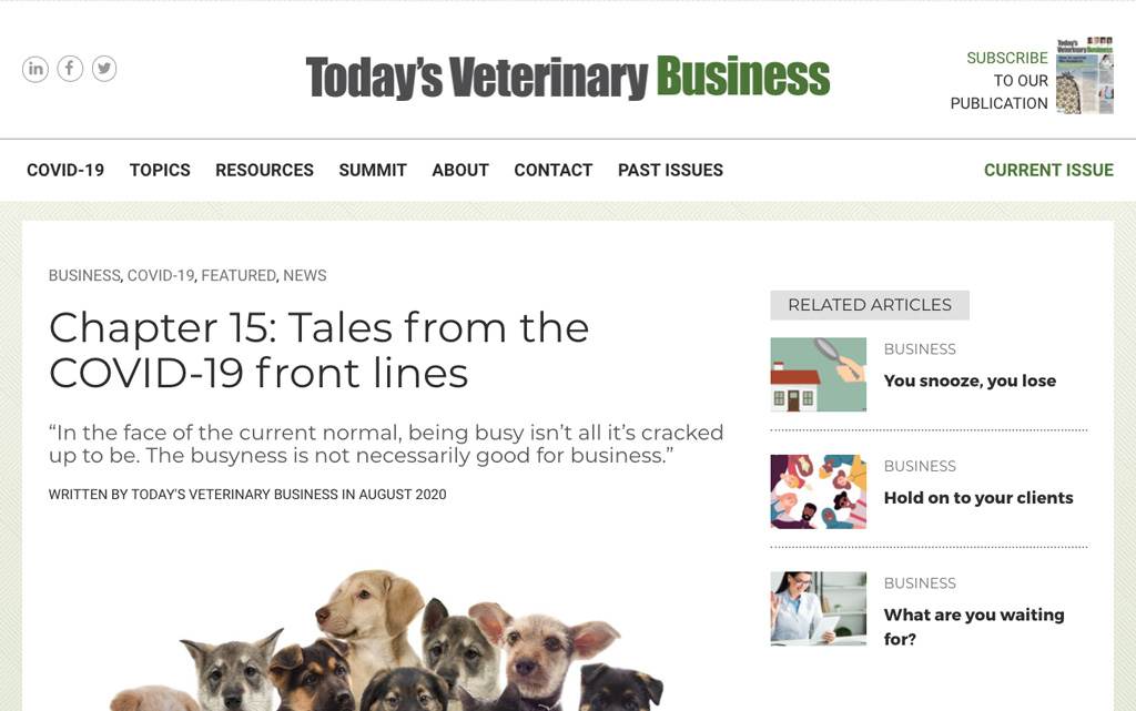 Animal Health Recruiter Chapter 15 Tales From The Covide 19 Front Lines