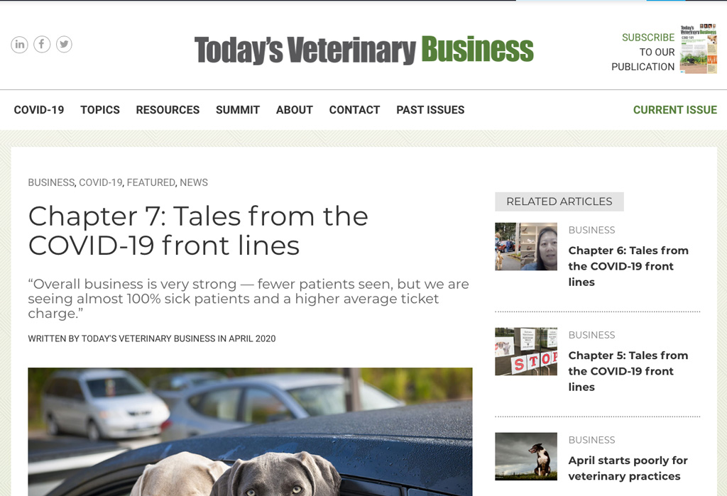 Todays Veterinary Business Covid Frontlines Chapter 7