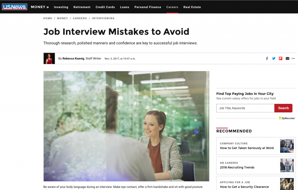 Us News Job Mistakes