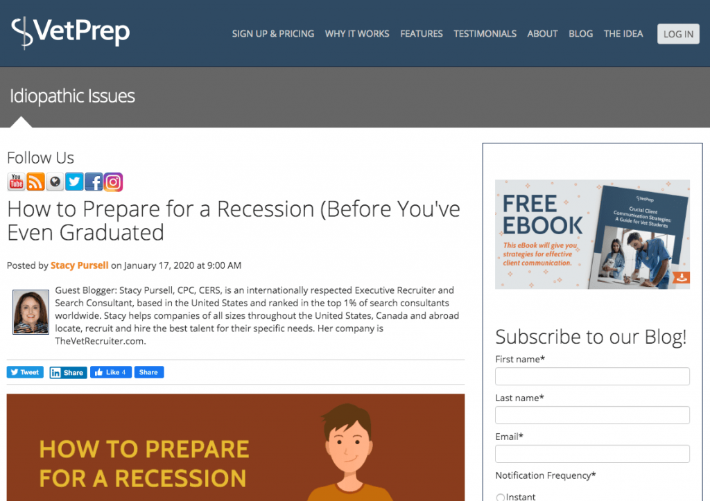 Vet Prep How To Prepare For A Recession