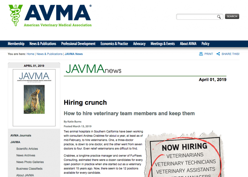 Vet Recruiter Avma Hiring Crunch