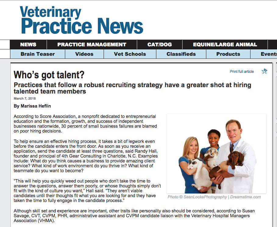 Veterinary Recruiter Veterinary Practice News Whos Got Talent